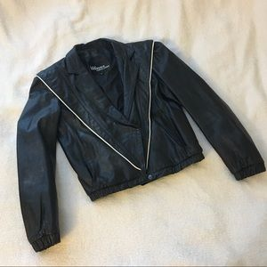 Vintage 1980s Wilsons Leather Moto Jacket Size XS